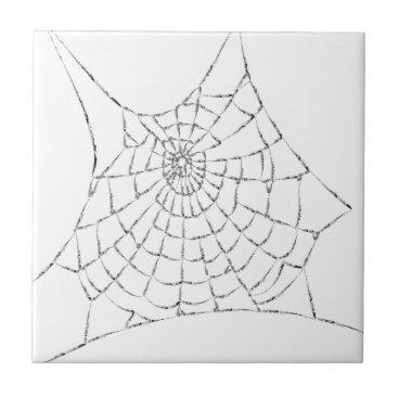 Halloween Themed Cobweb Ceramic Tile