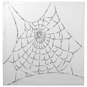 Halloween Themed Cobweb Cloth Napkin