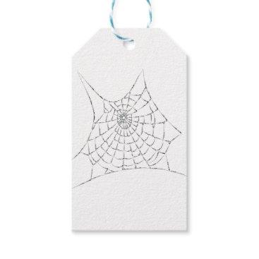 Halloween Themed Cobweb Gift Tags
