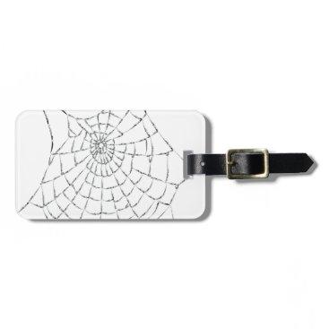 Halloween Themed Cobweb Luggage Tag