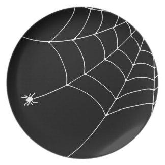 Cobweb Melamine Plate