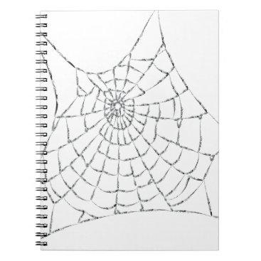 Halloween Themed Cobweb Notebook