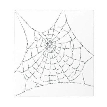 Halloween Themed Cobweb Notepad