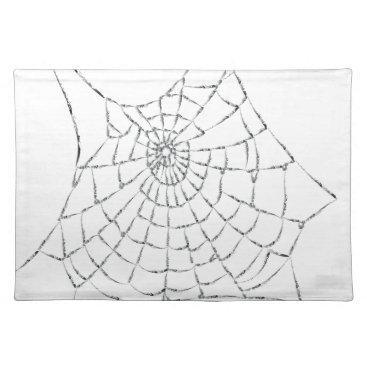 Halloween Themed Cobweb Placemat