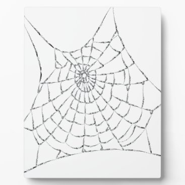 Halloween Themed Cobweb Plaque