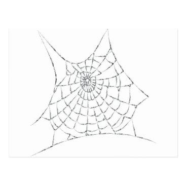 Halloween Themed Cobweb Postcard