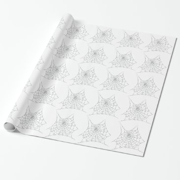 Halloween Themed Cobweb Wrapping Paper