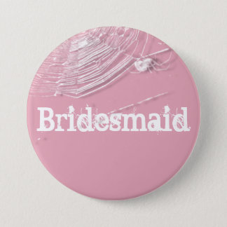 Cobwebs and White Spiders Bridesmaid Button