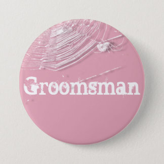 Cobwebs and White Spiders Groomsman Button
