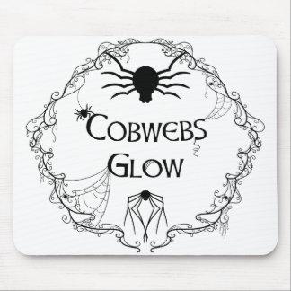 Cobwebs Glow Mouse Pad