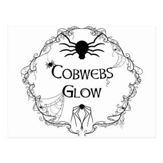 Cobwebs Glow Postcard