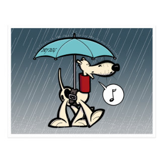 Coby Cur in the Rain (Series 1) Postcard