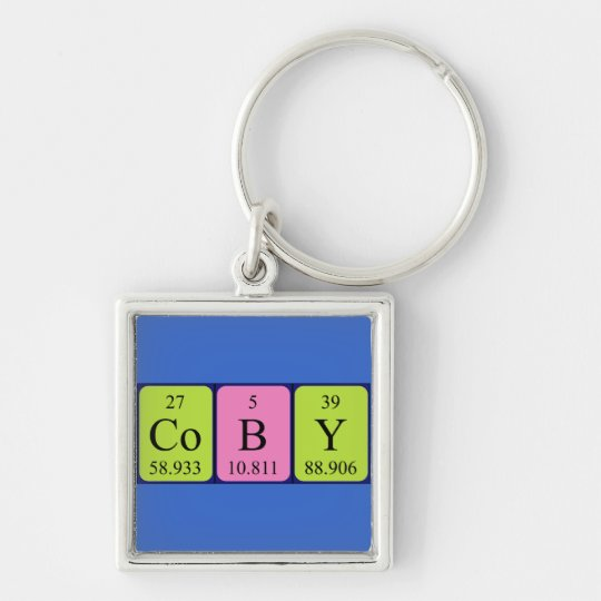 Coby periodic table name keyring