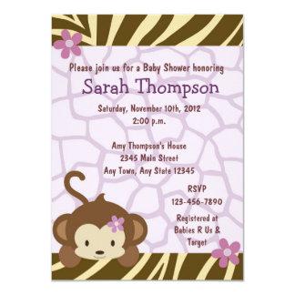 Cocalo Jacana Monkey Baby Shower Invitations