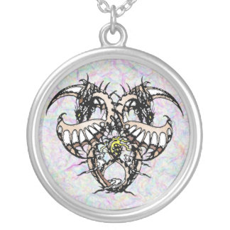 Cocao Ice Dragonheart Silver Plated Necklace