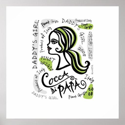 Cocca di Papa label poster