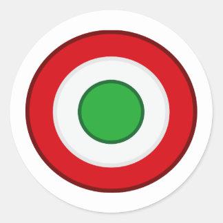 Coccarda Coppa Italia, Italia Etiqueta Redonda