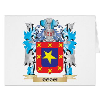 Cocci Coat of Arms - Family Crest Large Greeting Card