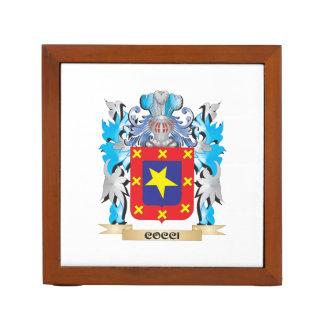 Cocci Coat of Arms - Family Crest Desk Organizer