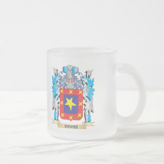 Cocci Coat of Arms - Family Crest 10 Oz Frosted Glass Coffee Mug
