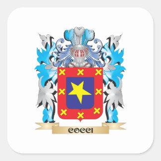 Cocci Coat of Arms - Family Crest Square Sticker