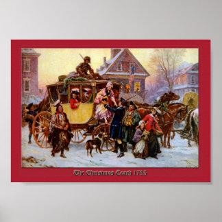 Coche 1795 del navidad por la impresión de Jean Le