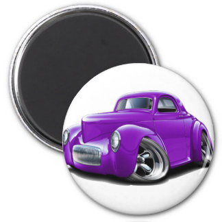 Coche 1941 de la púrpura de Willys Iman De Nevera