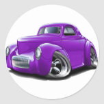 Coche 1941 de la púrpura de Willys Etiqueta Redonda