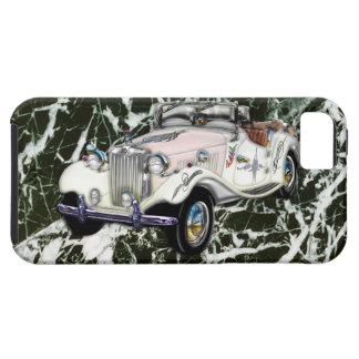 Coche 1955 de deportes convertible de MG del vinta iPhone 5 Carcasas