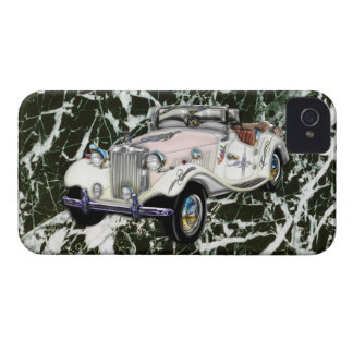 Coche 1955 de deportes convertible de MG del vinta iPhone 4 Case-Mate Funda