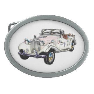 Coche 1955 de deportes convertible de MG del vinta Hebilla Cinturón Oval