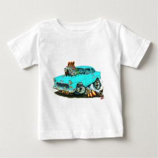 Coche 1955 de la turquesa de Chevy 150-210 Playera De Bebé