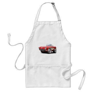 Coche 1956-57 del rojo del Corvette Delantal