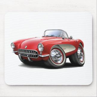 Coche 1956-57 del rojo del Corvette Tapetes De Ratón