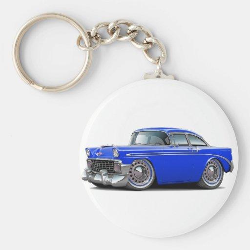 Coche 1956 del azul de Chevy Belair Llaveros Personalizados