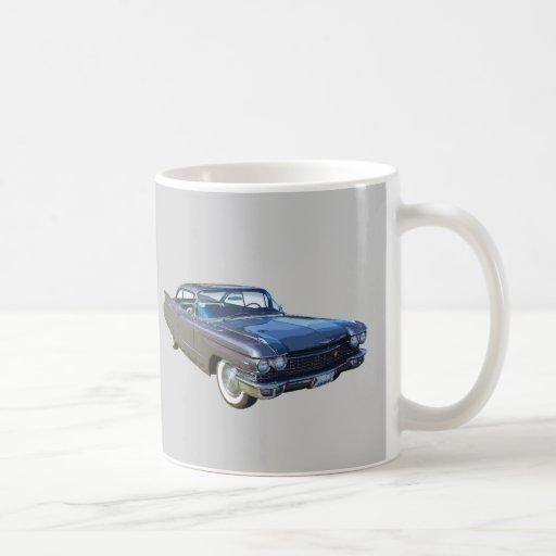 Coche 1960 del lujo de Cadillac Taza Básica Blanca