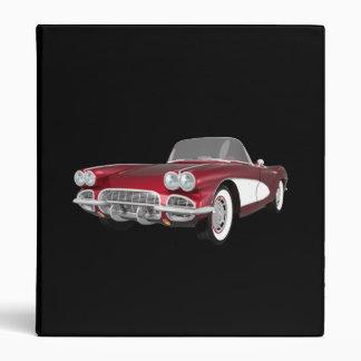 """Coche 1961 de deportes del Corvette: Caramelo Carpeta 1"""""""