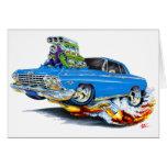 Coche 1962-63 del azul del impala tarjeta