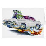 Coche 1962-63 del blanco del impala felicitacion