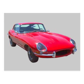 Coche 1964 de deportes antiguo de Jaguar XKE del Tarjeta Postal