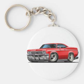 Coche 1965-66 del rojo del impala llavero redondo tipo pin