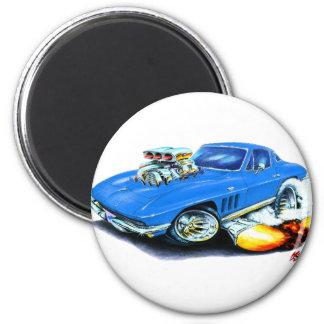 Coche 1965 del azul del Corvette Imán Redondo 5 Cm