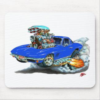 Coche 1966-67 del azul del Corvette Alfombrillas De Ratones