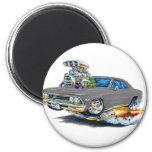 Coche 1966 del gris de Chevelle Iman De Frigorífico