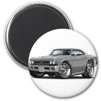 Coche 1966 del gris de Chevelle Imán Redondo 5 Cm