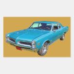 Coche 1966 del músculo de Pontiac Le Mans del azul Pegatina