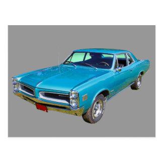 Coche 1966 del músculo de Pontiac Le Mans del azul Tarjetas Postales