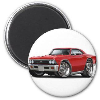 Coche 1966 del rojo de Chevelle Imán Redondo 5 Cm