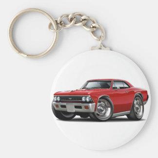 Coche 1966 del rojo de Chevelle Llavero Redondo Tipo Pin
