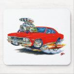 Coche 1966 del rojo de Chevelle Tapete De Raton